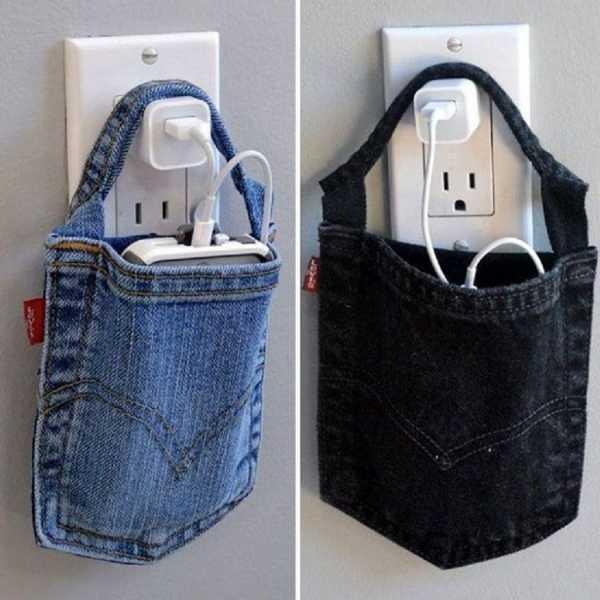 85b3676d4a90 Сумочка. Старая пара джинсов + ремешок = сумка для ланча