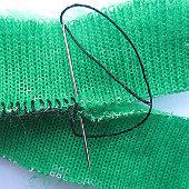 петельный шов по искусственному меху